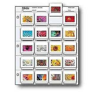 Print File 25 Pack Slide Pages for 2x2 Mounted Slides (2x2-20B) 050-0270