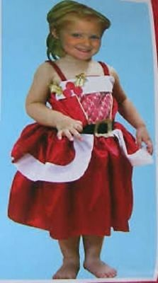 BULK WHOLESALE LOT - 6 x Little Mrs Santa Claus Christmas Dress Up Costume - New