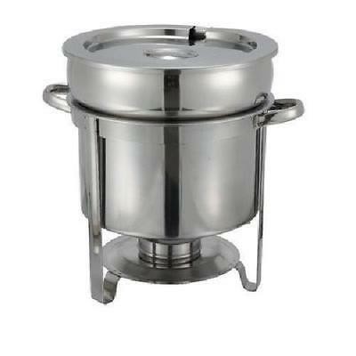 Winco 211 Stainless Steel Soup Warmer 11-Quart
