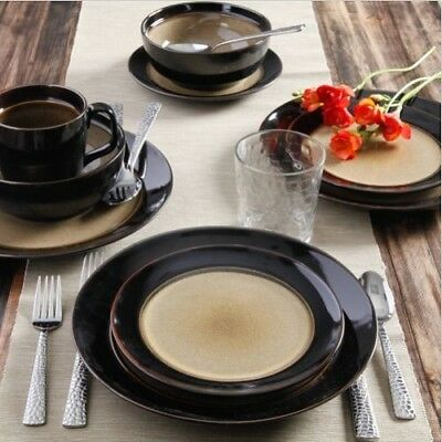 a39d24124755 Dinnerware Set 32 Piece Dish Plate Sets for 8 Dinner Tableware Plates and  Bowls