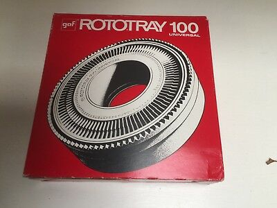 """GAF  """"ROTOTRAY 100 UNIVERSAL""""   SLIDE CAROUSELS - 2 (TWO) - sell as Lot."""