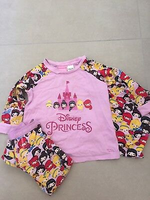 Peter Alexander Girls Disney Princess Pyjamas Size 3