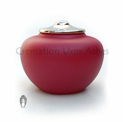 Large pink adult human memorial ashes urn, Cremation Urns Ashes