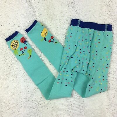 NWT Hanna Andersson Girls Footless Tights Surf Fruit Size 110/120 US 5-7