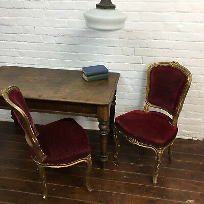 Industrial Vintage Antique French Art Deco Club Lounge Louis V Chair Dining