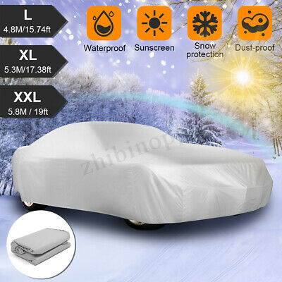 L YL YXL XL XXL Car Cover Outdoor Waterproof Rain Sun Snow Ice UV Dust Resist