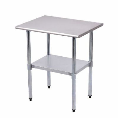 """New 24"""" x 30"""" Stainless Steel Work Prep Table Commercial Kitchen Restaurant"""