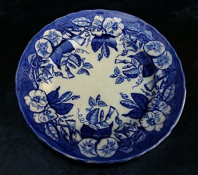 David Johnston Vieillard Bordeaux Assiette A Dessert Volubilis Faience 19E 1/11