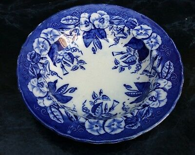 David Johnston Vieillard Bordeaux Assiette Creuse Volubilis Faience 19Eme 1/16