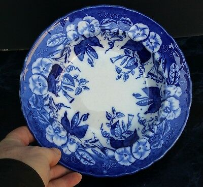 David Johnston Vieillard Bordeaux Assiette Plate Volubilis Faience 19Eme 1/17