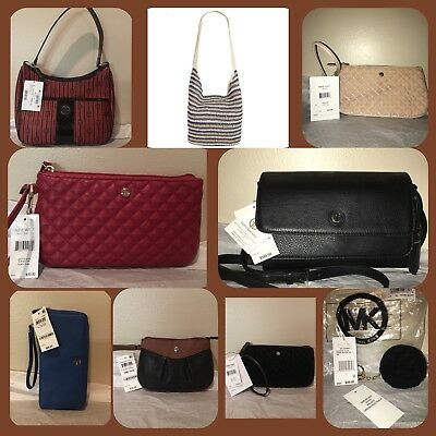 11 PURSES NWT FROM MACYS (INCLUDES DUPLICATES) $1,000 RETAIL Michael Kors & more