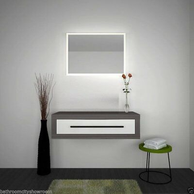 Bathroom Fitted Furniture 900mm Hacienda Wall Unit Grey White with-out Sink