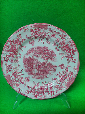 Decorative Plate of Porcelain, Quadrifoglio Italy, Decorated Antique Lovers
