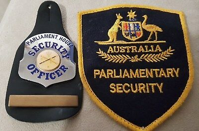 Obsolete Australian Parliamentary Security Officer Badge, Fob and Patch Obsolete