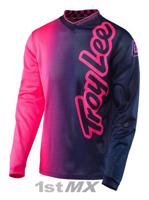 Troy Lee Designs TLD GP Air 50 50 Pink Navy Motocross Race Jersey Adult XXLarge