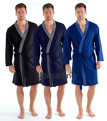 mens jersey cotton summer holiday hospital lightweight dressing gowns robe 348da7dcb