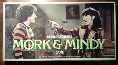 mork and mindy board game 1979 Vintage Robin Williams Complete Parker Brothers