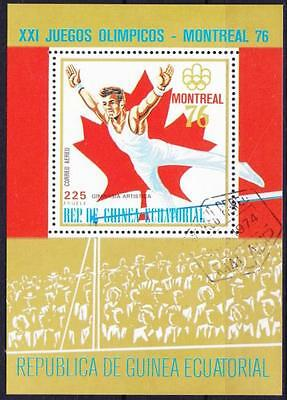 Olympiade Montreal 1976 Äquatorial Guinea Block, gest., olympic games, used