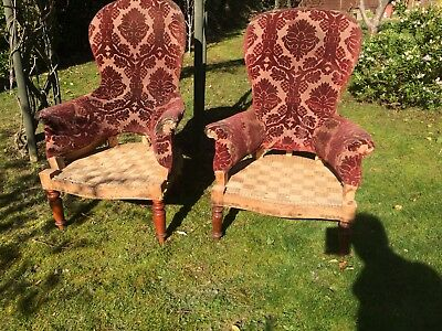 Antique French armchairs For restoration