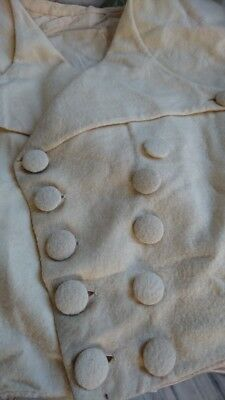 CHARMING ANTIQUE FRENCH WOOLLEN WAISTCOAT c1850 DOUBLE BREASTED - ATTIC FIND