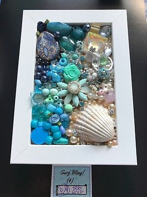 Handmade Jewellery Art - Box Frame - Surf Bling