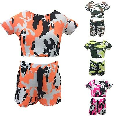 GIRLS BABY SUMMER 2 PIECE SHORTS /& TOP FLORAL SET WHITE/&PINK/&RED/&BLUE 30,9//7