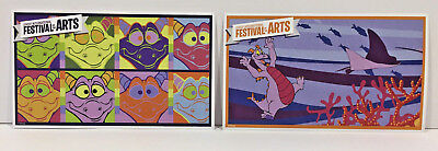Epcot 2018 Festival of the Arts FIGMENT 2 POSTCARD SET  Discontinued Mint Unused