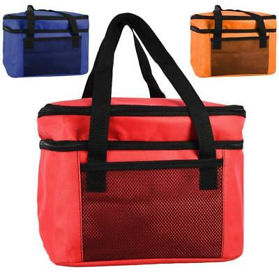 14L Insulated Cool Bag Two Compartments Cooler Picnic Drink Carrier Lunch Box