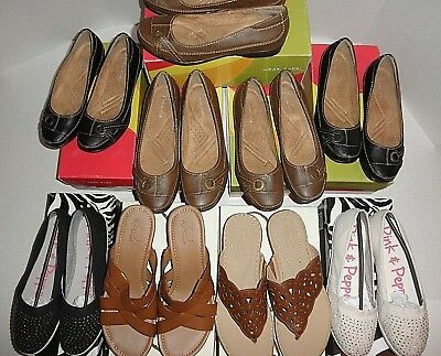 NIB WHOLESALE LOT 10 Womens Casual Shoes: Hush Puppies, Kim Rogers, wear.ever...
