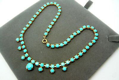 Vintage Jewellery Turquoise Stone Necklace