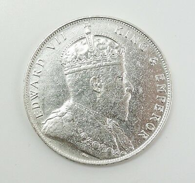 Estate 1908 King Edward VII British Colonial Straits Settlement Silver Dollar