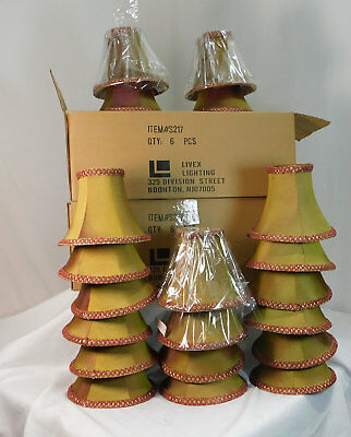 LivexS217 Illusion Bell Clip Chandelier Shade (1 pc) Gold/Burgundy iridescent