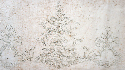 Antique/vintage floral lace pattern on glazed cotton - bows and flowers