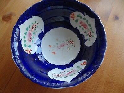 Victorian Gaudy Welsh Bowl in Excellent Condition
