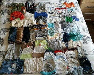 Massive Baby Boys Bundle 0-3 Months Excellent Condition Over 70 Items!