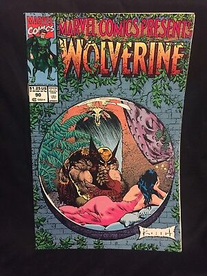 Marvel Comics Presents Vol 1 90 Wolverine Ghost Rider and Cable