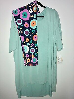 NWT 3XL Lularoe Solid Mint Green IrmaTunic Top TC2 Floral Legging Outfit