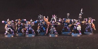 Possessed Chaos Space Marines, Emperor's Children, Warhammer 40k, Pro Painted