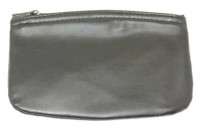 TOBACCO POUCH Medico Brown Vinyl Oval Zippered Pipe RYO Cigarette - New