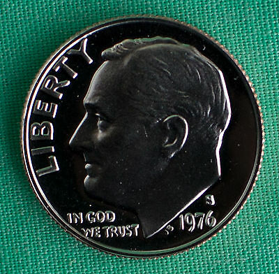 1976 S Proof Roosevelt Dime Ten-Cents Coin 10c