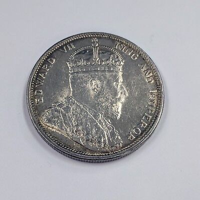 Straits Settlements Malaysia 1904 Silver One Dollar Coin Edward VII No Reserve!