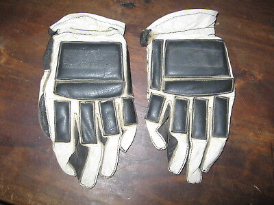 Vintage Leather Motorcycle Motocross Racing Gloves size Small