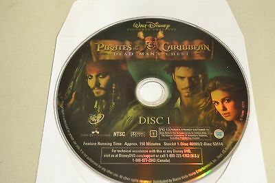 Pirates of the Caribbean: Dead Man's Chest (DVD Widescreen)Disc Only 49-126
