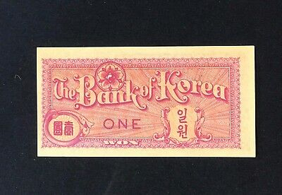1953 ONE WON - The BANK OF KOREA  uncirculated