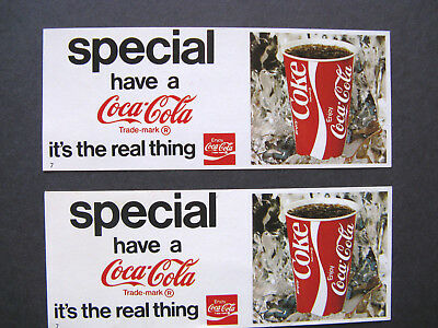 Coca Cola Advertising Cards (2)  Arby's Roast Beef on back @ 1974 Hollywood