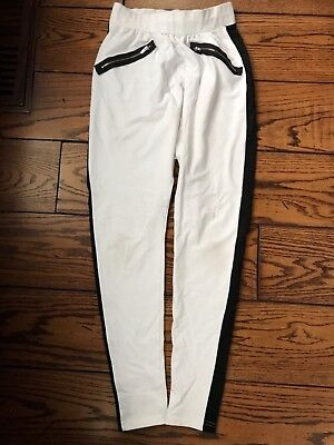 Valera Hip hop dance white harem pants size small adult SA