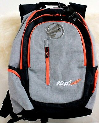 Tige Boats Gray Custom Back Pack New Nwt Padded Lap Top Pocket Backpack Bag