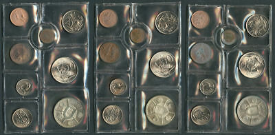 Lot of 3 South Africa 8 Coin Mint Sets all w/ Silver Rand Sealed