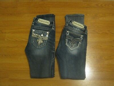Rock Revival  Straight Leg  Jeans Lot Sz 27/32    Excellent  2 Pair