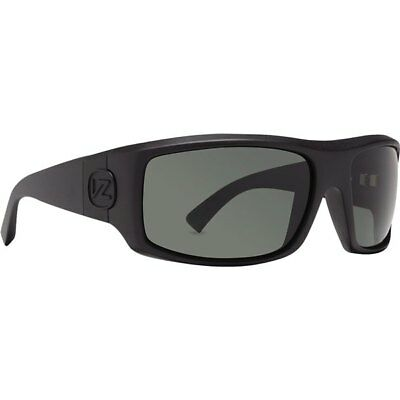 Black Satin/Grey Von Zipper Clutch Shift Into Neutral Sunglasses Motorcycle Eyew